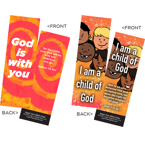 Children's Memory Verse Bookmarks, Variety Pack of 60 - Assortment 3