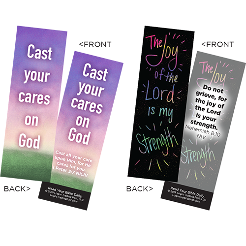 Children's Memory Verse Bookmarks, Variety Pack of 60 - Assortment 4