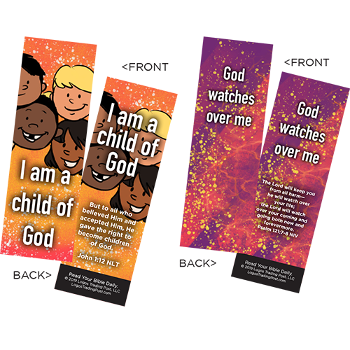 Children's Memory Verse Bookmarks, Variety Pack of 60 - Assortment 6