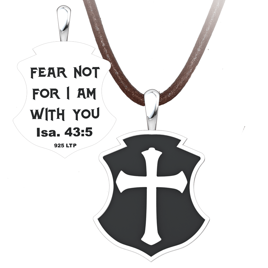 Men's Fear Not Sterling Silver Pendant on a suede cord