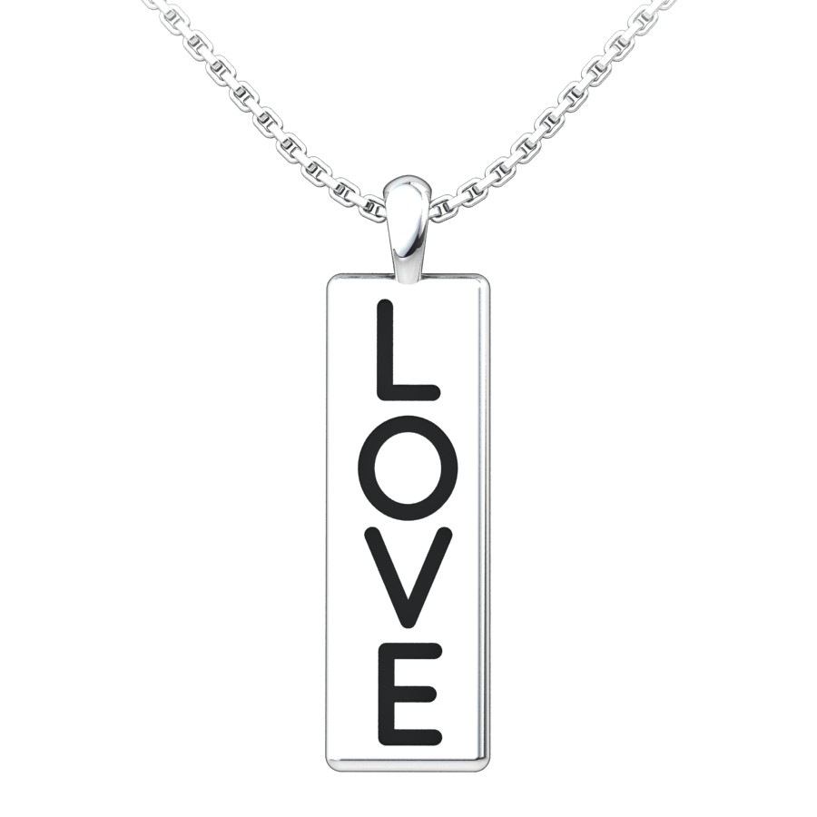 Love Conquers All Sterling Silver Pendant with an 18 inch