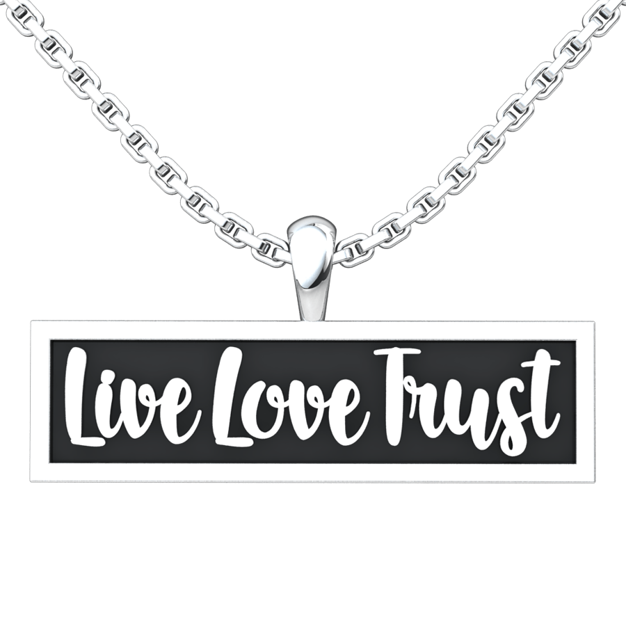 Live Love Trust Sterling Silver Pendant with 18 inch chain