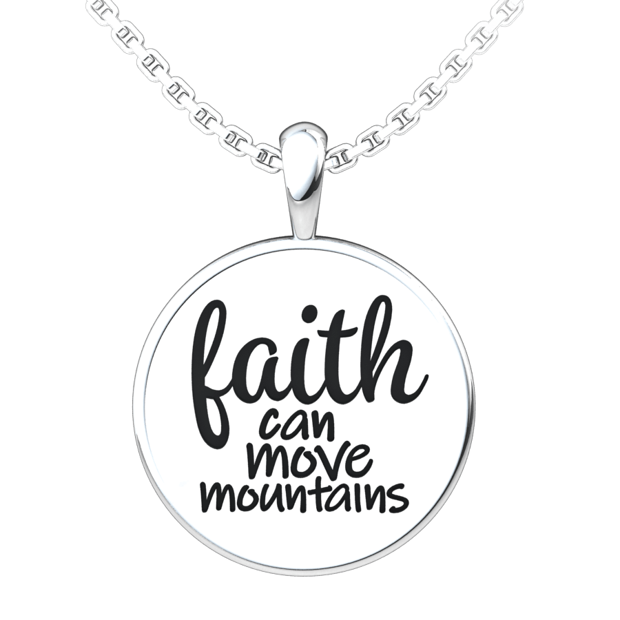 Logos Jewelry - Women's Sterling Silver Faith Pendant - Logos Trading Post, Christian Gift