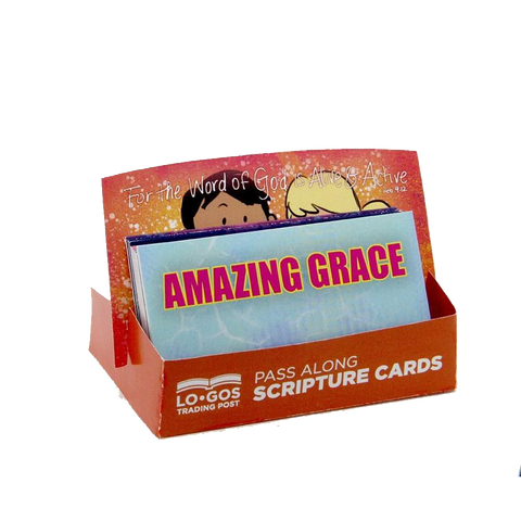 Children's Pass Along Scripture Cards - Amazing Grace, Pack of 25 - With Stand