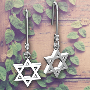 Logos Jewelry - Star of David, Sterling Silver Earrings - Logos Trading Post, Christian Gift