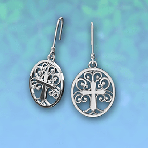 Logos Jewelry - Tree of Life, Sterling Silver Earrings