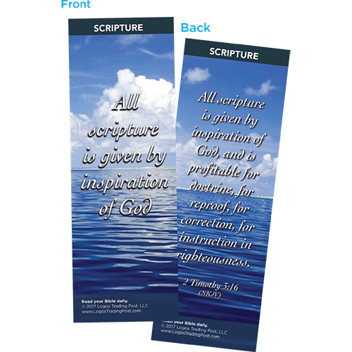 All Scripture is Given By Inspiration of God Bookmarks, Pack of 25 - Christian Bookmarks