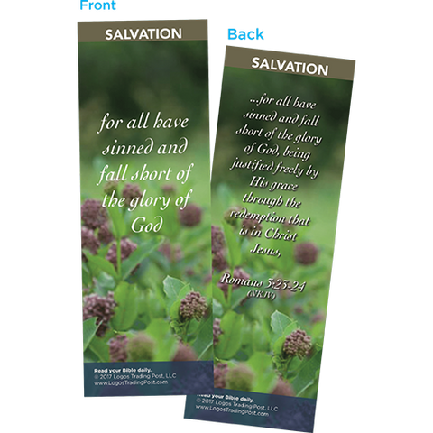For All Have Sinned and Fall Short of the Glory of God Bookmarks, Pack of 25