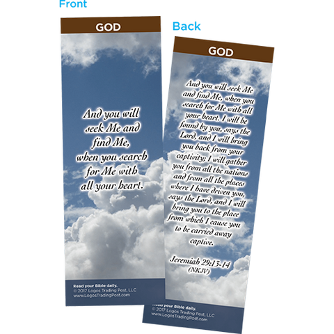 And You Will Seek Me and Find Me Bookmarks, Pack of 25 - Christian Bookmarks