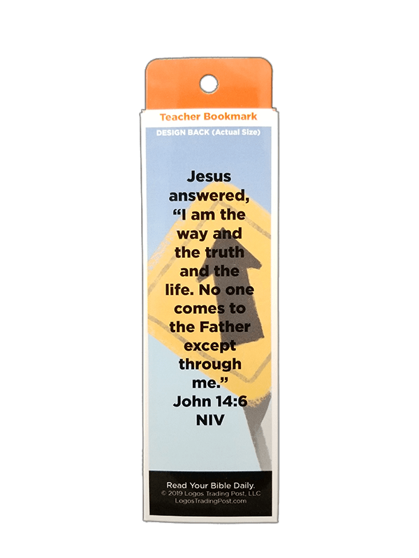 Children's Christian Bookmark, Jesus is the Way, John 14:6 - Pack of 25 - Logos Trading Post, Christian Gift