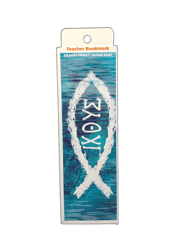Children's Christian Bookmark, IXOYE (ICHTHUS), Matthew 4:19 - Pack of 25 - Logos Trading Post, Christian Gift