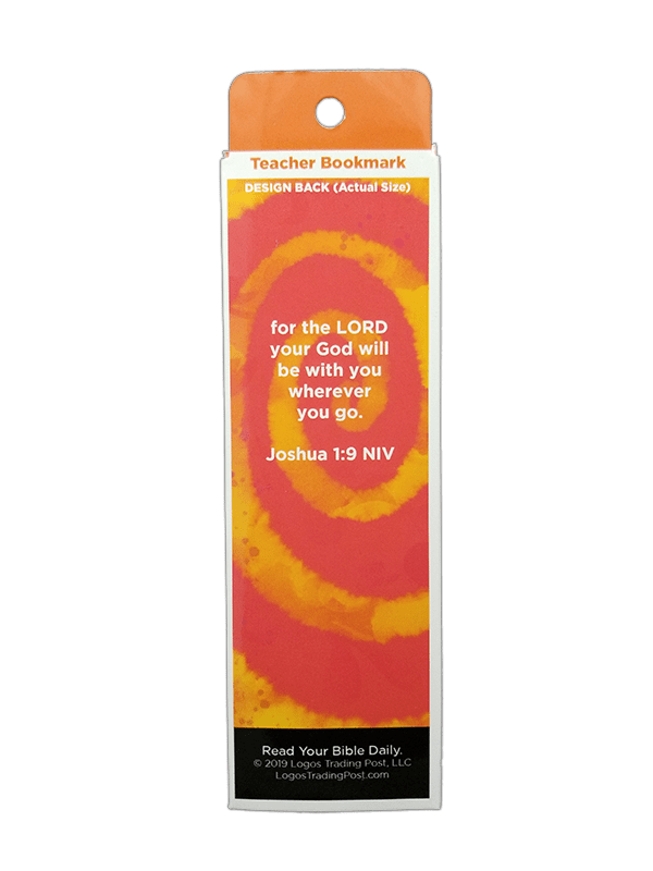 Children's Christian Bookmark, God is With You, Joshua 1:9 - Pack of 25 - Logos Trading Post, Christian Gift