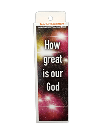 Children's Christian Bookmark, How Great is our God, Psalm 48:1 - Pack of 25 - Logos Trading Post, Christian Gift