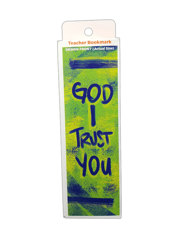 Children's Christian Bookmark, God I Trust You, Proverbs 3:5 - Pack of 25 - Logos Trading Post, Christian Gift