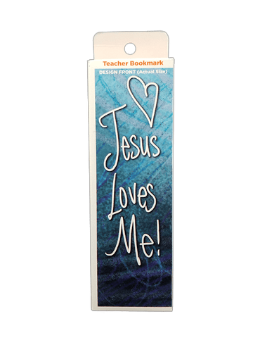 Children's Christian Bookmark, Jesus Loves Me, Ephesians 3:18 - Pack of 25 - Logos Trading Post, Christian Gift