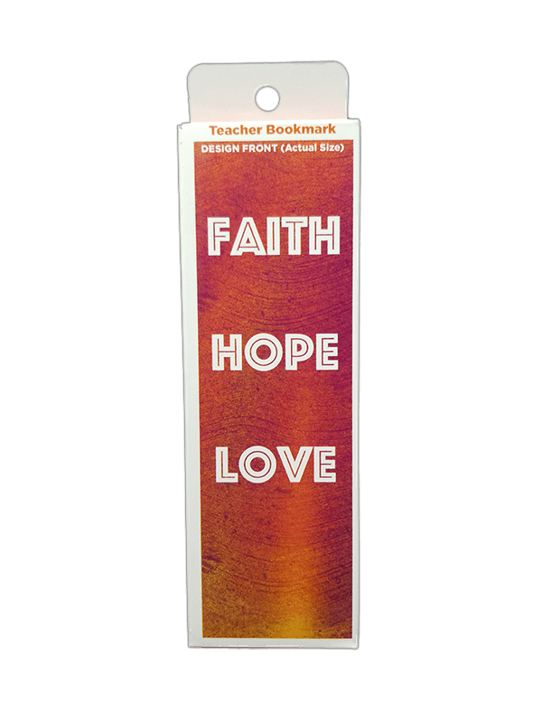 Children's Christian Bookmark, Faith Hope Love, 1 Corinthians 13:13 - Pack of 25 - Logos Trading Post, Christian Gift