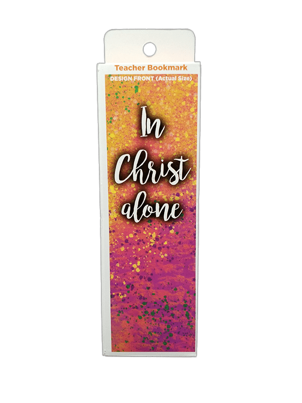 Children's Christian Bookmark, In Christ Alone, Jude 1:25 - Pack of 25 - Logos Trading Post, Christian Gift