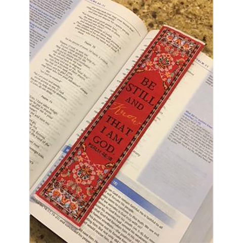 Logos Bookmark - Be Still - Psalms 46:10