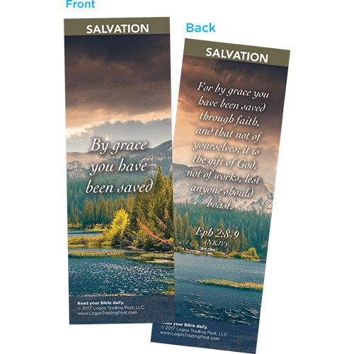 By Grace You Have Been Saved Bookmarks, Pack of 25 - Christian Bookmarks