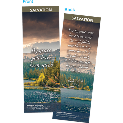 By Grace You Have Been Saved Bookmarks, Pack of 25