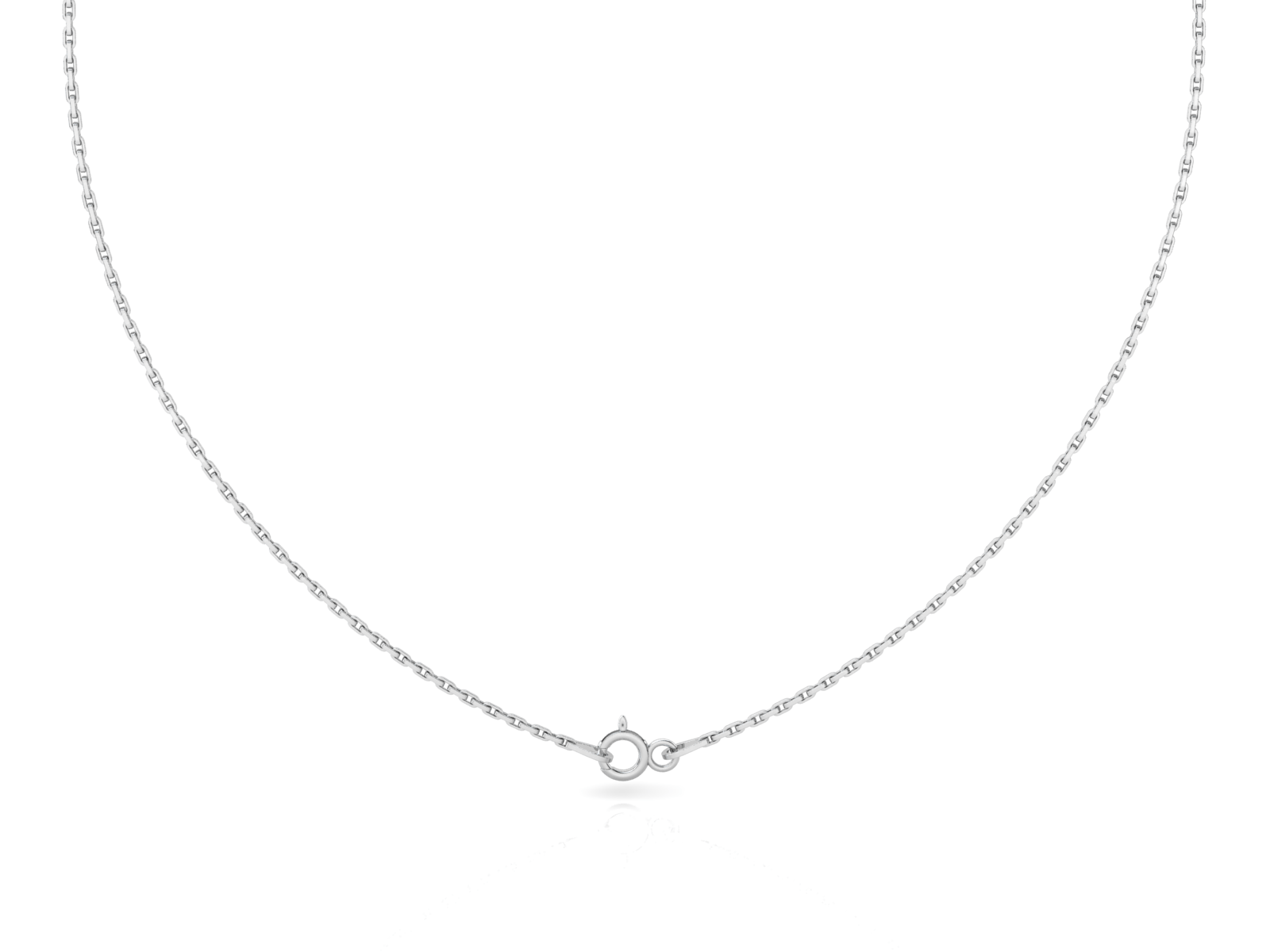 "Cable Light (1.2mm) Sterling Silver Chain, 16"", 18"", 20"", 24"", 30"""