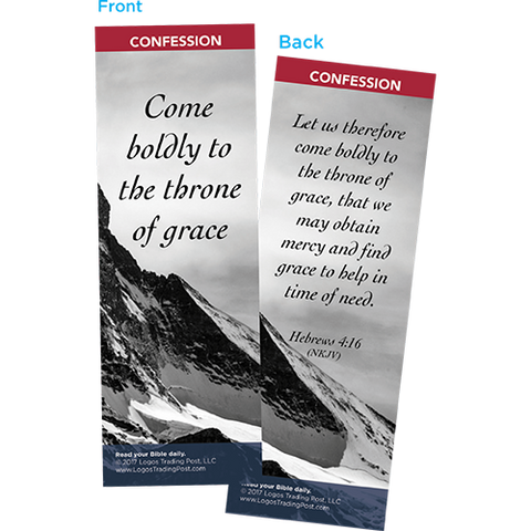 Come Boldly to the Throne of Grace Bookmarks, Pack of 25 - Christian Bookmarks