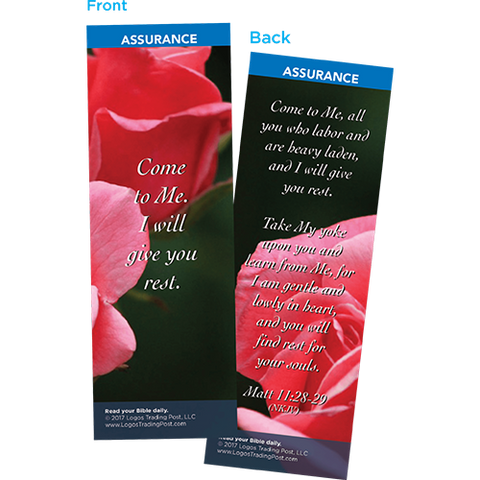 Come to Me, I Will Give You Rest Bookmarks, Pack of 25