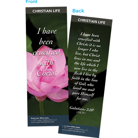 I Have Been Crucified with Christ Bookmarks, Pack of 25 - Christian Bookmarks