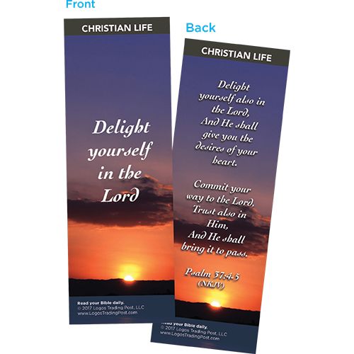 Delight Yourself in the Lord Bookmarks, Pack of 25 - Christian Bookmarks