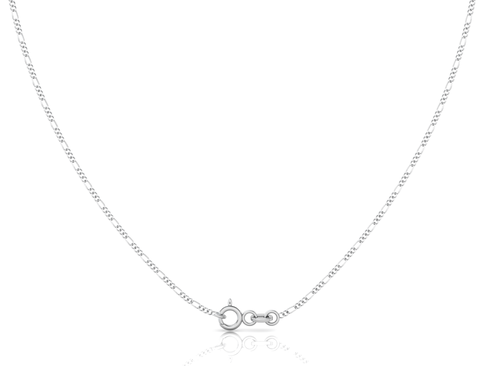 "Sterling Silver Chain - Figaro (1.6mm), 18"", 20"", 24"", 30"""