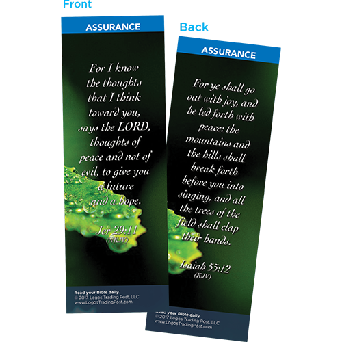 For I Know the Thoughts That I Think Toward You Says the Lord Bookmarks, Pack of 25