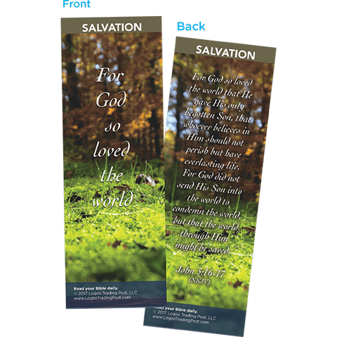 For God So Loved the World Bookmarks, Pack of 25 - Christian Bookmarks