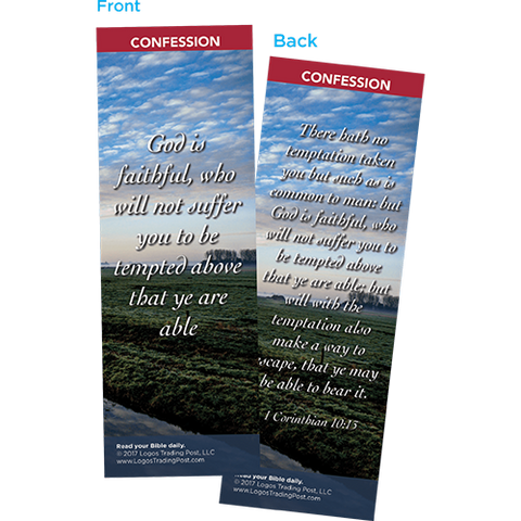 God is Faithful Bookmarks, Pack of 25 - Christian Bookmarks