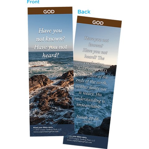 Have You Not Known? Bookmarks, Pack of 25 - Christian Bookmarks