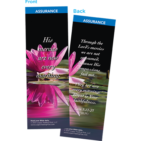 His Mercies Are New Every Morning Bookmarks, Pack of 25 - Christian Bookmarks