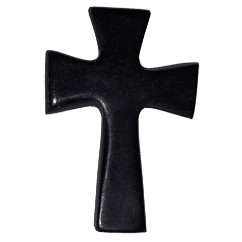 Holy Land Hand-Carved Serpentine Stone Pocket Cross
