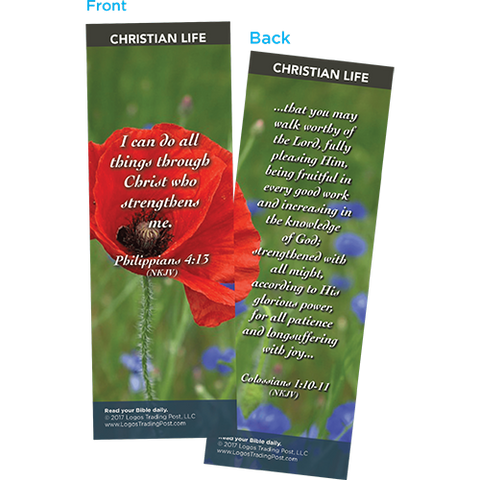 I Can Do All Things Through Christ Who Strengthens Me Bookmarks, Pack of 25 - Christian Bookmarks