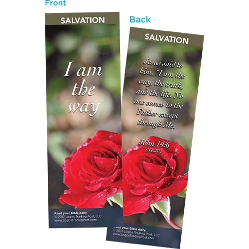 I Am the Way Bookmarks, Pack of 25 - Christian Bookmarks