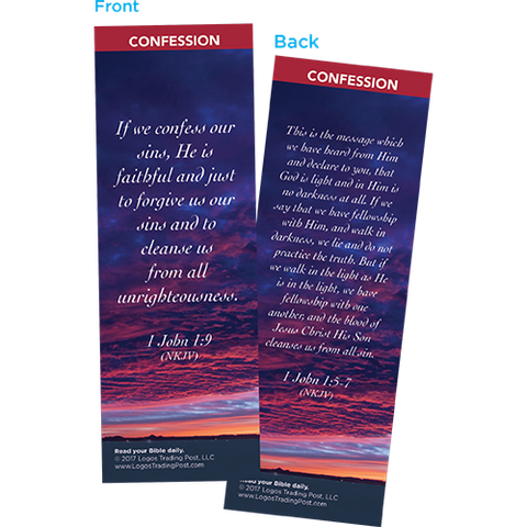 If We Confess Our Sins, He is Faithful Bookmarks, Pack of 25 - Christian Bookmarks