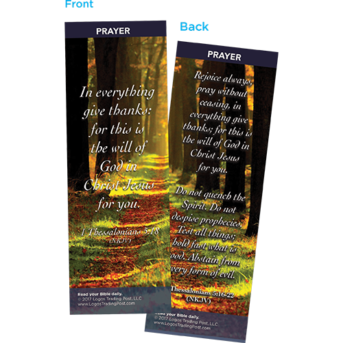 In Everything Give Thanks Bookmarks, Pack of 25 - Christian Bookmarks