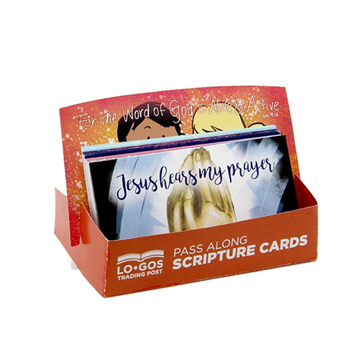 Children's Pass Along Scripture Cards - Jesus Hear My Prayer, Pack of 25 - With Stand