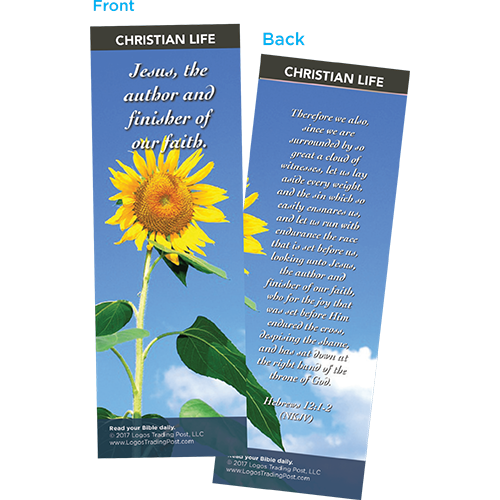 Jesus, The Author and Finisher of Our Faith Bookmarks, Pack of 25 - Christian Bookmarks