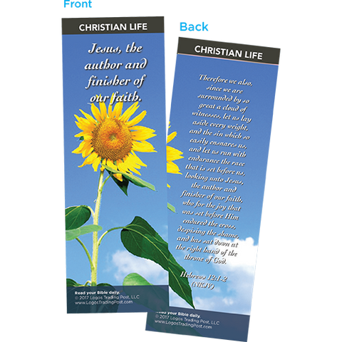 Jesus, The Author and Finisher of Our Faith Bookmarks, Pack of 25