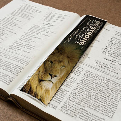 Logos BookMark -  Be Strong & Courageous - Joshua 1:9 - Rug - Logos Trading Post, Christian Gift