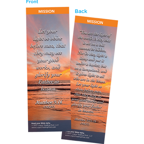 Let Your Light So Shine Before Men Bookmarks, Pack of 25 - Christian Bookmarks
