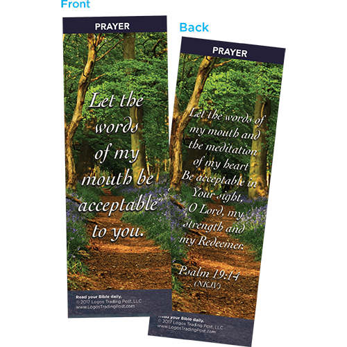 Let the Words of My Mouth Be Acceptable to You Bookmarks, Pack of 25 - Christian Bookmarks