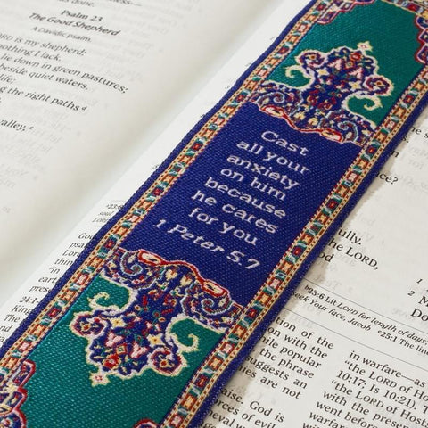 Lo•gos BookMark 1 Peter 5:7 - Logos Trading Post, Christian Gift