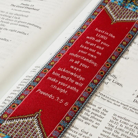 Lo•gos BookMark Proverbs 3:5-6 - Red - Logos Trading Post, Christian Gift