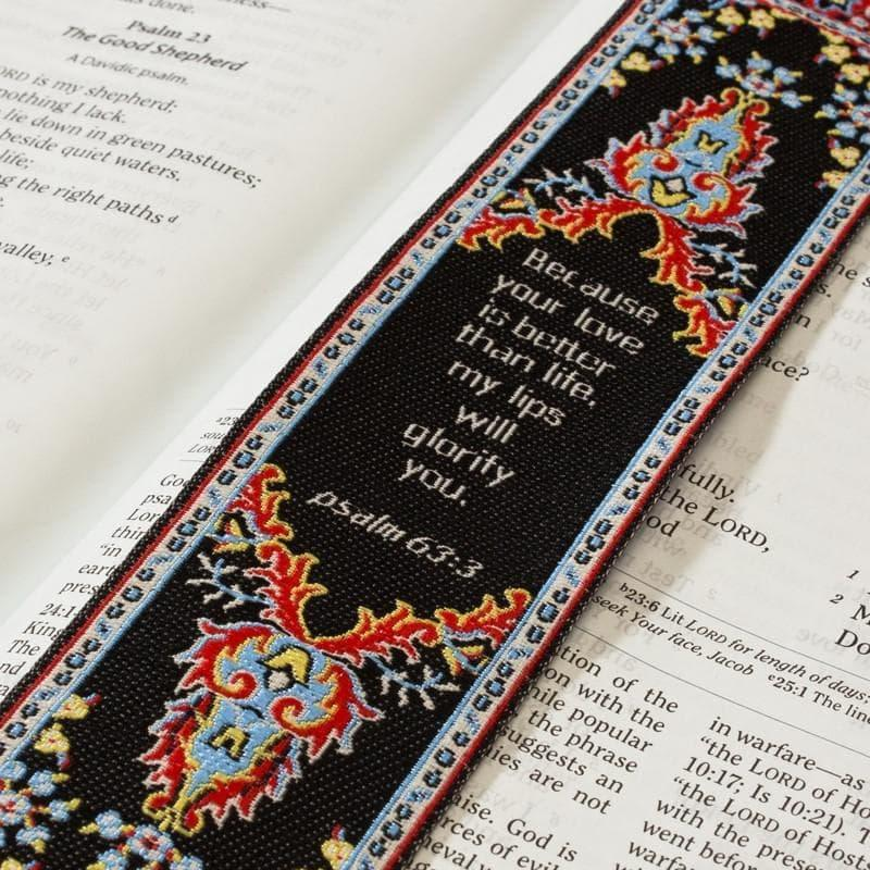 Lo•gos BookMark Psalm 63:3 - Logos Trading Post, Christian Gift