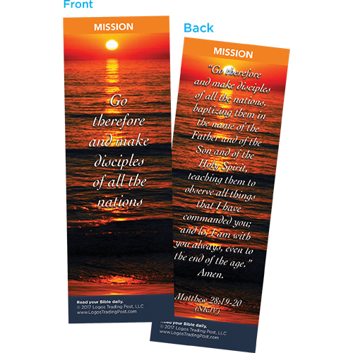 Go Therefore and Make Disciples of All the Nations Bookmarks, Pack of 25 - Christian Bookmarks